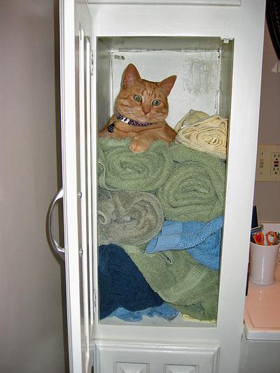 Rita in the linens