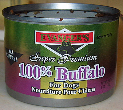 100% Buffalo dog food